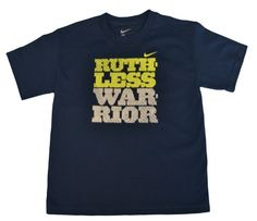 Nike Boys Ruthless Warrior Shirt-Navy/yellow « Clothing Impulse