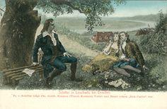 Schiller in Loschwitz bei Dresden. Fr. v. Schiller trägt Chr. Gottfr. Koerner und Braut seinen Don Carlos vor