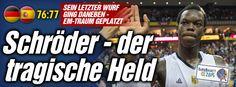 Basketball-EM bei BILD: Deutschland - Spanien 76:77 - #Basketball-#Traum geplatzt http://www.bild.de/sport/mehr-sport/basketball-em/aus-fuer-nowitzkis-riesen-42529288.bild.html I knew that GER #basketball has no chance for #EM this time,ask Dr.#Merkel why...lol, but GER can pay 1,8 Mio EUR as '#Ausrichter', s.t.can go to #Olympia lol ;-D