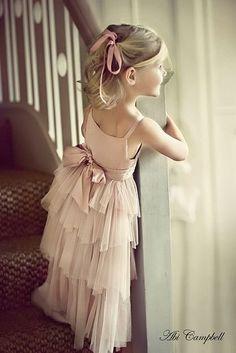 ❀ Fanciful Flower Girls ❀ dresses & hair accessories for the littlest wedding attendant :-) Sweet Dress, Little Girl Dresses, Blush Flower Girl Dresses, Maxi Dresses, Pink Flower Girl Dresses, Girls Dresses, Kind Mode, Little Princess, Marie