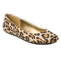Leopard print flats from Target