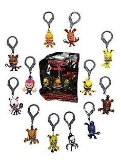Collect 'em all...IF YOU DARE! // Five Nights At Freddys Series 2 Backpack Hangers Blind Bag