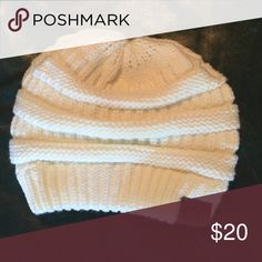 Cream colored beanie Cream colored beanie. Never been worn Accessories Hats