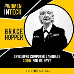 """I had a running compiler and nobody would touch it, because, they carefully told me, #Computers could do arithmetic.""  #WomeninTech #GraceHopper #Cobol"