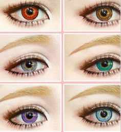 Snow Tricolor 3-tone Fresh Color Blends Contact Lenses Crazy Lens   6 Colors Free Shipping Ready In Stock