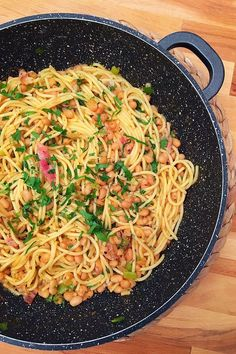 """Skót"" spagetti | Gastrohobbi Spagetti Recipe, Sushi Recipes, Bacon, Spaghetti, Brunch, Good Food, Breakfast, Ethnic Recipes, Drinks"