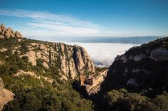 View of Montserrat up from the Sant Joan. Catalonia