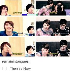 Look at how the years change<<< Dans voice: We are all slowly dyinf