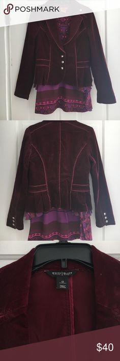 White House Black Market burgundy jacket size 12. This White House Black Market corduroy jacket with military type button in a size 12 looks super cute with jeans, a tunic, or dressed up with pearls! White House Black Market Jackets & Coats Blazers