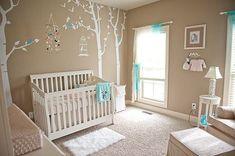 Decoración de la habitación del bebé de color beige                                                                                                                                                      Más