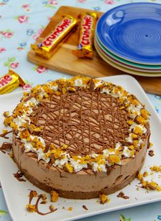 No bake crunchie honeycomb cheesecake.