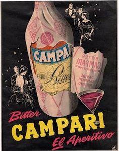 Vintage Italian Posters ~ Campari Retro Advertising, Vintage Advertisements, Vintage Labels, Vintage Ads, Poster Ads, Poster Prints, Campari And Soda, Vintage Italian Posters, Italian Drinks