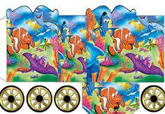 Nemo: Caja con forma de Carruaje para Imprimir Gratis.