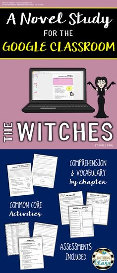 The witches novel study unit comprehension vocabulary activities the witches novel study unit comprehension vocabulary activities tests fandeluxe Image collections