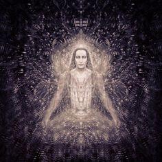 'An Ode To Mahavatar Babaji' (Detail + Filter) Indian Saints, Saints Of India, Kriya Yoga, Pranayama, Yoga Meditation, Chakras, Mahavatar Babaji, Maharishi Mahesh Yogi, Spiritual Images