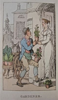 """""""Gardener"""" from """"Characteristic Sketches of the Lower Orders"""" by Thomas Rowlandson (1820)"""