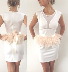 New 2014 Ostrich feather belt skirt by bynordvik on Etsy, $59.00
