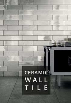 "Designed as part of the Diesel Living collection, Camp ceramic wall tile explores various finishes transposed from textiles for an industrial design with a vintage feel.  Featuring 3 distinct textures in 5 colors, 4x12"" size and 4x12 bullnose."