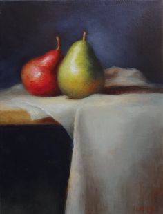 Fine Art Still Life Painting, Original Oil Painting by Livia Mosanu titled Pears via Etsy