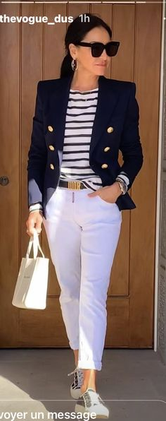 Cute Casual Outfits, Stylish Outfits, Summer Outfits, Fashion Outfits, Womens Fashion, Blue Blazer Outfit, Blazer Outfits, Blazers, Outing Outfit