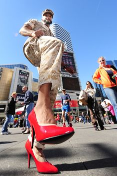 Walk A Mile In Her Shoes Toronto: 4th Annual March To End Violence Against Women. Thank you gentlemen!!!