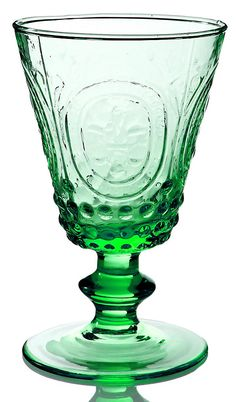 One Kings Lane - All Things French - S/4 Amelie Wineglasses, Green