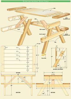 How to build a classic picnic table picnic tables diagram and picnics 50 free diy picnic table plans and ideas that will bring your family together ccuart Choice Image