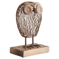 I pinned this Wisely Owl Sculpture from the Cari Cucksey event at Joss and Main!