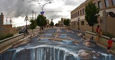 Arte em perspectiva: conheça obras feitas com a impressionante técnica de grafite em 3D - BOL Fotos - BOL Fotos