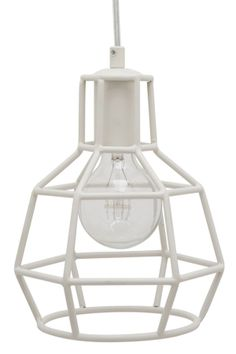 Cage Matte White Pendant Lamp. Get this for $159 + FREE SHIPPING. Click the image for more details or click here: http://www.likemodern.com/products/cage-matte-white-pendant-lamp.html #pendantlighting #modernlighting #homedecor