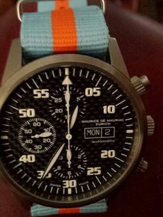 Chronograph Modern on Gulf Team NATO by Mauriac.