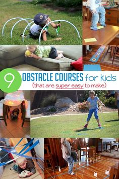 Obstacle Course for Kids: Ideas that are Super Simple - great movement games can be used for brain breaks in the classroom or home