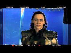 I love HIM! TH doing Alan Rickman impersonation as Loki. Dead on.