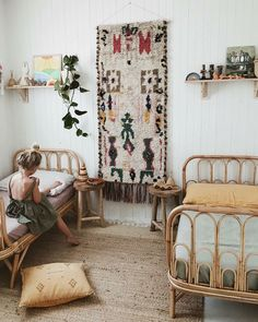 Rattan in Kids' Rooms - beds, chairs, toy storage..