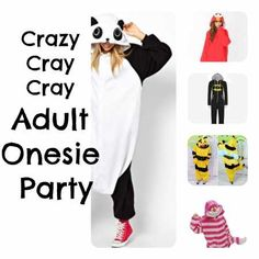 Quick Party Ideas – Adult Onesies Oh my goodness... This is absolutely the most amazing idea ever... Yes.
