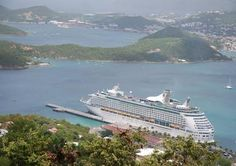 Royal Caribbean Cruise ship in St Thomas