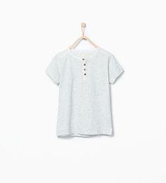 ZARA - NIÑOS - Camiseta cuello panadero.