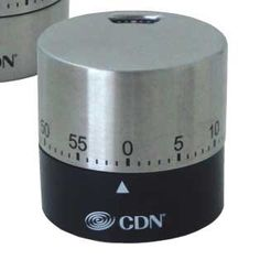 CDN Thermometers and timers - black round mechanical timer 5.7 cm *** Tried it! Love it! Click the image. : Roasting Pans