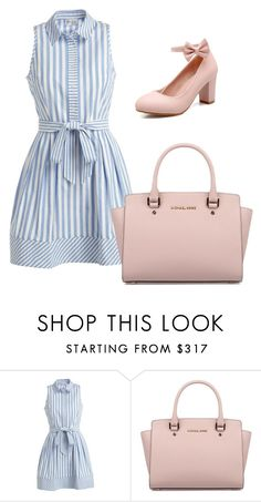 """""""Shirtdress <3"""" by lisbeth-alvarez ❤ liked on Polyvore featuring Milly, Michael Kors and shirtdress"""