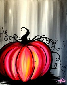 27 Ideas Disney Art Projects For Kids Room Decor Easy Canvas Painting, Autumn Painting, Autumn Art, Diy Canvas, Diy Painting, Beginner Painting, Fall Paintings, Pumpkin Painting, Canvas Art