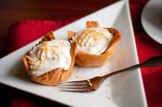 pumpkin coconut cream pies