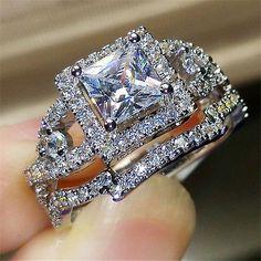 Fashion-Women-Silver-Plated-Crystal-Rhinestone-Wedding-Ring-Jewelry-Hot-Size6-10