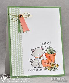 Naughty Kitty card by Kim Singdahlsen | Newton's Nook Designs Stamp set