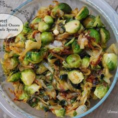 These Sweet Caramelized Onions and Brussels Sprouts are so easy, and ridiculously delish! #paleo just search 'Caramelized Brussels Sprouts' on the blog! {link in profile}?