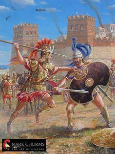 Zweikampf vor den Toren Trojas - Hektor und Achilll
