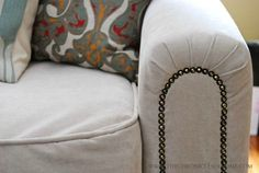 Share Tweet Pin Mail Thank you again for all the super nice comments this past week about my sofa reupholstery job.  It's one of ...