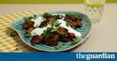 Marcus Wareing's combination of rich aubergine, fresh yoghurt, cumin and coriander makes for a delicious quick and healthy dinner