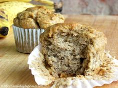 Gluten Free Banana Maple Muffins - healthy without tasting like it!  Refined sugar free too!