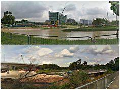 20130223_1547c01PandanRiverBridges-PANOipCollage - #Collage of #GooglePanoramas, showing changes along the #PandanRiver near the #InternationalBusinessPark in #Singapore.