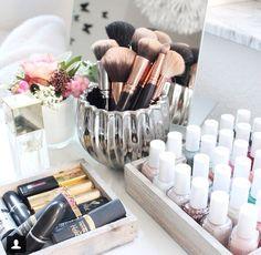 Cute beauty storage ideas.